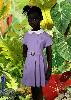 Enfant Noire dans la foret tropicale by Ruud Van Empel