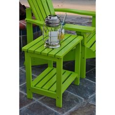 Wicker Side Table, Wooden Side Table, Solid Wood Dining Table, Side Tables, Key West Style, Green Table, Outdoor Decor, Outdoor Living, Refurbished Furniture