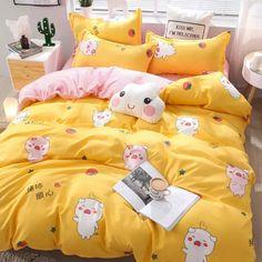 Room Ideas Bedroom, Girls Bedroom, Bedroom Decor, Bedroom Green, Cute Bed Sets, King Size Bedding Sets, Kids Bedding Sets, Kawaii Bedroom, Cute Bedding