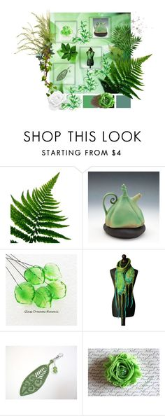 """""""Lovely Greens #3"""" by keepsakedesignbycmm ❤ liked on Polyvore featuring Polaroid, etsy, accessories, homedecor and smallshops"""