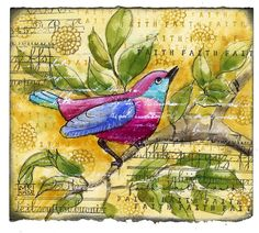 Martha Lever - art journal inspiration.