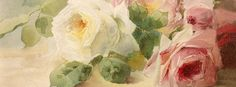 Soft roses Facebook Cover by Little Birdie Blessings.  Free for personal use.