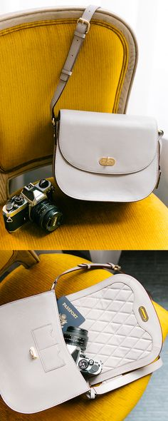 The Claremont camera bag by Lo & Sons - designed to carry a camera, lens, and memory cards. Travel without looking like a tourist.