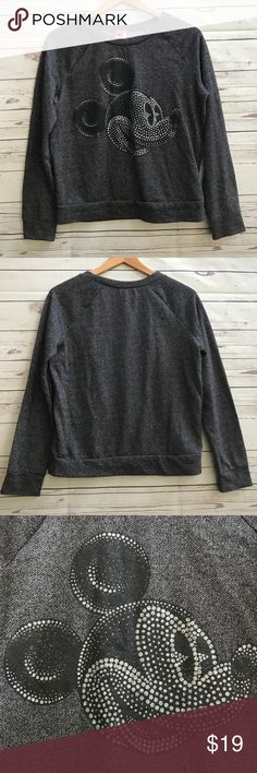 Disney's Mickey Mouse Sweatshirt Sz M-L Cute sweatshirt from Disney, could fit either Size M,in good condition, no damage, no stains, comes from smoke and pet free house, please ask any question about the product, thank you! Disney Tops Sweatshirts & Hoodies
