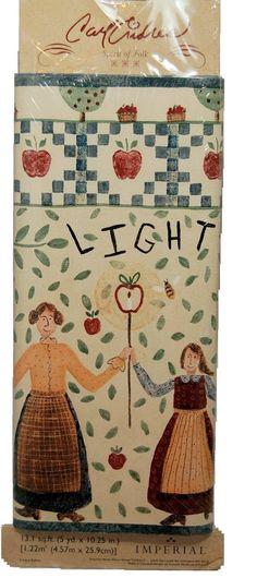 Carol Endres Spirit of Folk Prepasted Wallpaper Border - - Amazon.com