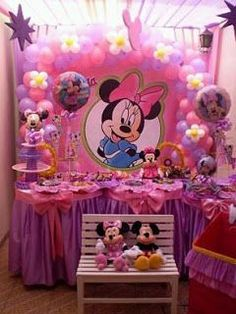 Decoration of children of - imagui party ideas в 2019 г Minie Mouse Party, Minnie Mouse Birthday Theme, Minnie Mouse Baby Shower, Mickey Party, Minnie Mouse Birthday Decorations, Party Fiesta, Mouse Parties, Bow, Ciri