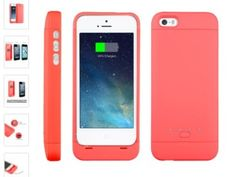 cute charging case in pink [Apple Certified ]EasyAcc® Mfi 2200mAh iPhone 5 5s 5c battery charging case, Rechargeable extended protective Battery Case for iPhone 5 5s 5c,Original Lightning Charging Plug,Pink [12-month Warranty]