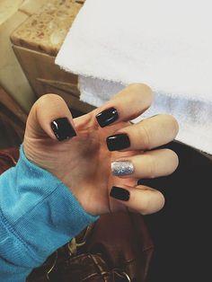 Graceful 130+ Beautiful Black Acrylic Nails Design Ideas