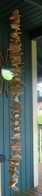 Now i just need a beach house to hang it in.      Driftwood art!!! Love this!!!