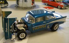 Chevy Gasser with flip hood Model Cars Kits, Kit Cars, Car Kits, Cars 1, Drag Cars, Chevy Models, Model Cars Building, Plastic Model Cars, Model Hobbies