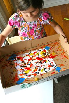The Moffatt Girls: fall- marble painting