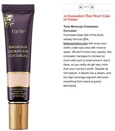 #3 of 10 Concealers That Won't Cake or Crease  dailymakeover.com    http://www.dailymakeover.com/trends/makeup/best-concealers/?utm_campaign=socialflow&utm_source=twitter.com&utm_medium=referral#slide1