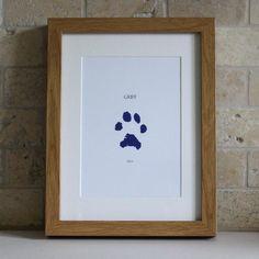 Pawprint picture Dog Print Pet Gift Idea Gift Ideas for Puppy Gifts, Pet Gifts, Dog Lover Gifts, Paw Print Crafts, Paw Print Art, Pet Paws, Dog Memorial, Diy Stuffed Animals, Photos
