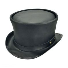 Head 'N Home Coachman Black Leather Top Hat Leather Top Hat, Black Leather, Old Lady Costume, Steampunk Hat, Steampunk Fashion, Fraternity Collection, Black Top Hat, Funky Outfits, Hat Shop