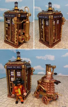 Steampunk lego tardis, which board does this get pinned onto?