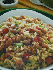 Ricetta facile e veloce: Risotto con fagioli e pancetta.Preparazione: 15' Cottura: 1 h 20' Esecuzione: facile Metti i fagioli in una pentola con �.