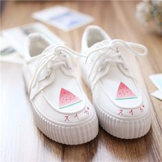 SponsorshipReview&AffiliateProgramopening! Material:canvas Style:Japanese+cute,harajuku+fashion,sweet,jfashion,kfashion,kawaii, Color:white,  Size+here: EU35=225mm EU36=230mm EU37=235mm EU38=240mm EU39=245mm (tip:1mm=0.039inch)  Tips: *Please+double+check+above+size+and+consider+your+measurements+before+ordering,+thank+you+^...
