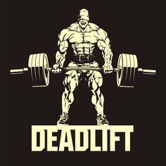 bodybuilder with barbell, deadlift, vector image Powerlifting Men, Powerlifting Training, Powerlifting Motivation, Bodybuilding Logo, Bodybuilding Training, Bodybuilding Motivation, Sport Motivation, Fitness Motivation Wallpaper, Dead Lift Workout