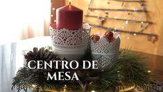 Centro de mesa navideño Pillar Candles, Diy, Youtube, Christmas Table Centerpieces, Red Christmas, Christmas Tabletop, Christmas Tables, Natural Materials, Creativity