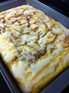 Cinna-bun Cake in the oven ~ Recipe of today