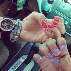 Nail Polish Jewelry, Essie Nail Polish, Bad Nails, Love Nails, Nail Tech, Beauty Nails, Nail Art, Bracelets, Dichroic Glass