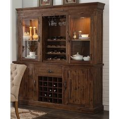 New Classic Home Furnishings Normandy D1232-46 Wine Cabinet