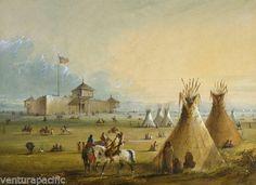 Fort-Laramie-Alfred-Jacob-Miller-circa-1858-Fine-Giclee-Print-11x17-cs