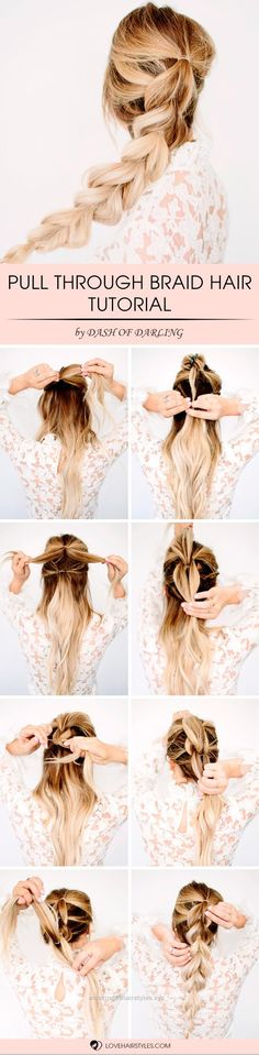 Splendid With this pull through braid hair tutorial you will add something new to your look. Moreover, you can make it sleek or big.  The post  With this pull through braid hair tutorial you wil ..
