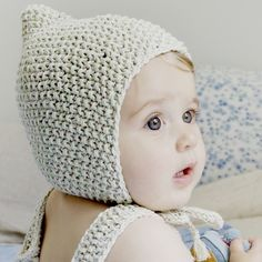 Misha and Puff — Sea Breeze Bonnet For Mandy's baby. Knitting For Kids, Crochet For Kids, Baby Knitting, Crochet Baby Hats, Knitted Hats, Knit Crochet, Little People, Little Ones, Baby Boy Fashion
