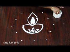 Vijayadasami special rangoli design //dussehra muggulu //Diwali Kolams - YouTube Best Rangoli Design, Beautiful Rangoli Designs, Rangoli Patterns, Rangoli Ideas, Special Rangoli, Muggulu Design, Simple Rangoli, Creative Video, Diwali