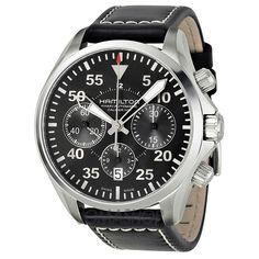 Hamilton Khaki Aviation Pilot Auto Chrono Watch H64666735 $1,225.81