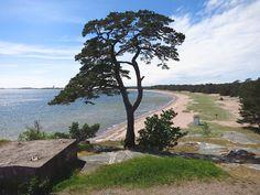Hanko, Tulliniemi. Hanko-city, the most south point in Finland. The Tulliniemi beach. Hanko has 30 km of sandy beaches.