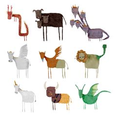 Mythical creatures by James Badham..........smile worthy