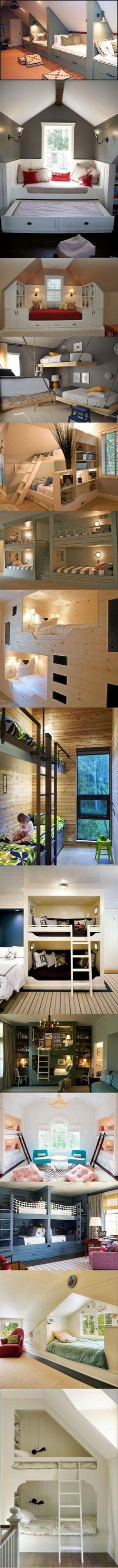 Idee voor onderschuifbed met huis ombouw