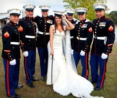 USMC - Marines - Devil Dogs - Leathernecks - Grunts - Jarheads - Semper Fi - Marine Love - Oorah - Marine Weddings - Military Photography Ideas