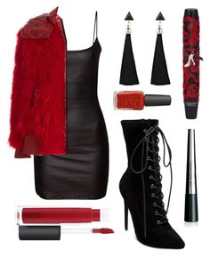 """""""Classic Red"""" by justmediocrecontent on Polyvore featuring Moncler Grenoble, Steve Madden, John Lewis, Physicians Formula and The Body Shop Physicians Formula, The Body Shop, Moncler, John Lewis, Baby Dolls, Polyvore Fashion, Steve Madden, Classic, Clothing"""