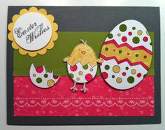 large egg paper punch | Easter Wishes Card!