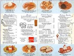 WOOLWORTH'S Lunch Counter Menu 1970 ! When you get to the link, you can enlarge … WOOLWORTH'S Lunch Counter Menu 1970 ! When you get to the link, you can enlarge the menus. Vintage Menu, Photo Vintage, Vintage Ads, Vintage Food, Vintage Cooking, Retro Ads, Vintage Dolls, Vintage Items, Vintage Restaurant