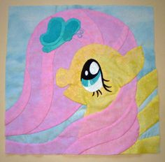 Fluttershy Quilt Square by sugarstitch
