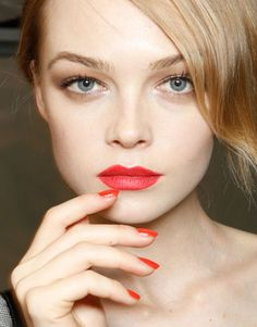 spring nails and lips 2012
