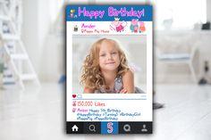 Peppa Pig Photobooth Prop, Peppa Pig Instagram Frame, Peppa Pig Photo Props, Instagram Cutout, Peppa Pig Birthday Personalised Frame by MustHaveThese on Etsy