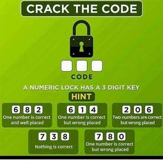 Crack the Code Logical Brain Teaser with Answer - Shake The Brain Brain Teasers Riddles, Brain Teasers With Answers, Brain Teasers For Kids, Math Riddles With Answers, Maths Riddles, Tricky Riddles, Brain Teaser Puzzles, Math Math, Escape Room Diy