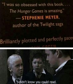 Ok, this is definitely mean. But it's funny too.. I don't think Stephanie Meyer is an idiot. Her story was interesting enough for me to finish the books, even though I had things I didn't like about them. Not the best author in the world, but at least she is trying and doing what she loves {not to mention getting rich because of it}