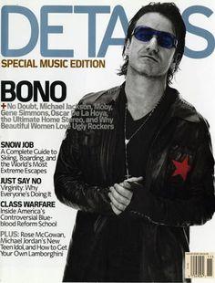 Bono - Details Magazine Cover [United States] (November 2001)  #bono #theedge #larrymullen #adamclayton #u2 #music #rock #detailsmagazine