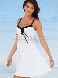 Summer dress for women. Plans and description