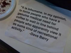 agreed or think of it as an acccessory. I need coffee or the day just sucks. I Love Coffee, Coffee Break, My Coffee, Drink Coffee, Morning Coffee, Coffee Zone, Coffee Club, Coffee Talk, Morning Joe
