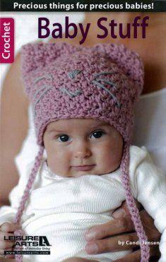 Baby Stuff Crochet Pattern - Cute Kitten Baby Hat  http://www.maggiescrochet.com/baby-stuff-p-2720.html?zenid=cb007809d2186f041c3685151bf6e727#.UeyUN43VB8E