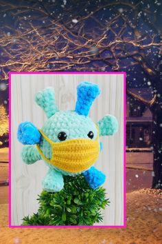 CROCHET PATTERN - virus amigurumi microbe pattern bacteria Simple instructions Plush handmade items Crochet Toys Patterns, Stuffed Toys Patterns, Handmade Ideas, Handmade Toys, Virus, Photo Processing, Funny Toys, Instructions, Beautiful Gifts