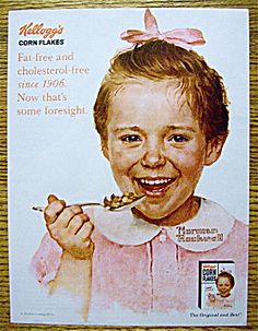 Kellogg's Corn Flakes with Girl By Norman Rockwell