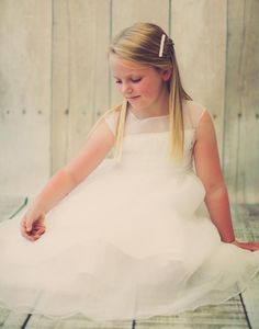 Tulle Overlay Dress with Pearl and Bead Accented Illusion Neckline  DressCouture
